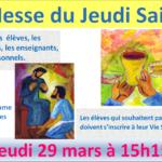 Messe du Jeudi Saint le 29 mars 2018